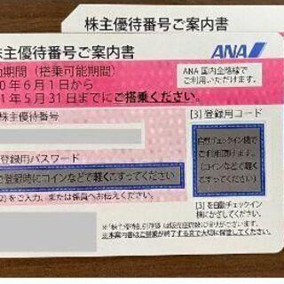 ANA 株主優待券  ピンク券 有効期間 2021年11月30日 2枚(航空券)