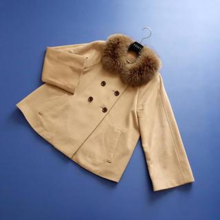 ANAYI - ■アナイ■ 38 フォックスファー襟 キャメルベージュ コート