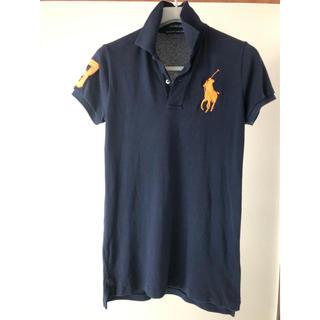 Ralph Lauren - 正規品 美品 ラルフローレン ネイビーのポロシャツ オレンジ  S