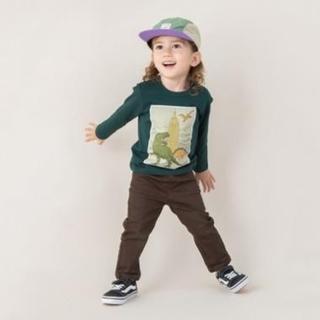 プティマイン(petit main)の【美品】プティマイン ボックス恐竜プリントTシャツ 100(Tシャツ/カットソー)