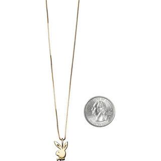 Supreme - supreme pendant playboy necklace 14k