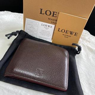 ロエベ(LOEWE)のロエベ LOEWE 折財布 メンズ財布 ブラウン ソフトレザー アナグラム柄(折り財布)