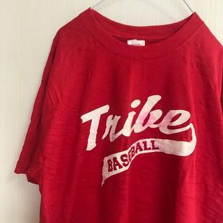 ヘインズ(Hanes)のアメリカ古着!Tシャツ L Hanes 野球 赤 メンズ レディース 半袖 (Tシャツ/カットソー(半袖/袖なし))