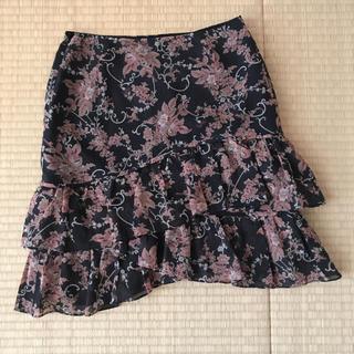 ビバユー(VIVAYOU)のVIVA YOU 膝丈 花柄スカート(ミニスカート)