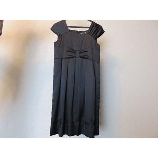 エル(ELLE)の最終値下げ60%オフ!新品同様・超美品☆ELLE petitお花刺繍黒ドレス♪(ドレス/フォーマル)