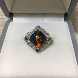 キョウセラ(京セラ)の京セラ クレサンベール 再結晶ブラックオパール リング Pt950 2.50ct(リング(指輪))