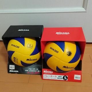 ミカサ(MIKASA)の美品 ミカサ バレーボール 5号球 MVA200  MVA330 2球セット(バレーボール)