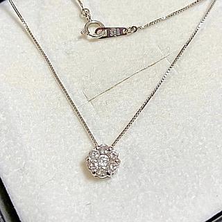 Vendome Aoyama - k18 ダイヤモンド フラワー パヴェ  ネックレス 0.3ct