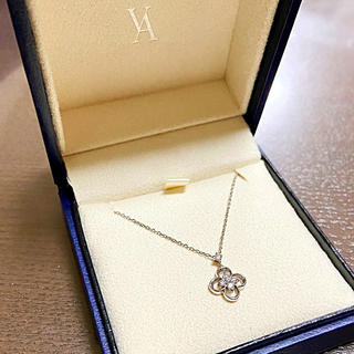 Vendome Aoyama - ヴァンドーム青山 k18 クロス フラワー ダイヤモンド ネックレス