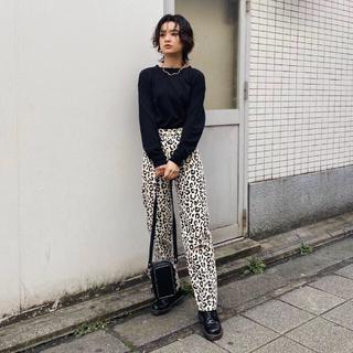 moussy - MOUSSY今季新作♡LEOPARD WIDE パンツ♡レオパードパンツ新品