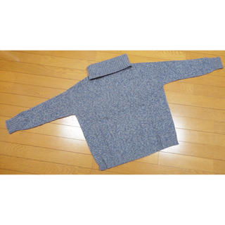 マックスマーラ(Max Mara)のマックスマーラ スヌード付きカシミヤニット ブルー(ニット/セーター)
