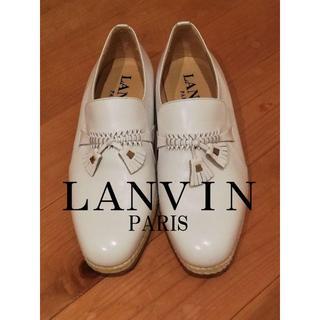 ランバン(LANVIN)のハイブランド LANVIN シューズ ホワイト 革靴(ドレス/ビジネス)