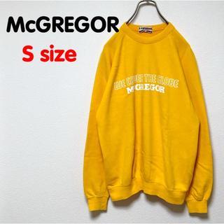 マックレガー(McGREGOR)のマックレガー トレーナー スウェット イエロー USED OLD 古着 ロゴ 柄(スウェット)