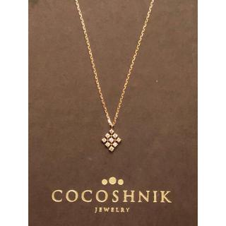 ココシュニック(COCOSHNIK)のココシュニック ゴールド ネックレス ダイヤ ひし形 ete アーカー 菱形(ネックレス)