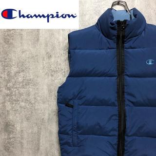 Champion - 【激レア】チャンピオン☆ワンポイント刺繍ロゴ羽毛入りダウンベスト