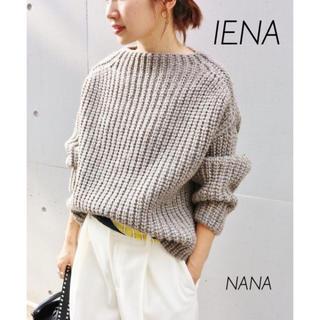 IENA - 459.IENA chere British wool プルオーバー