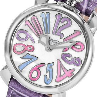ガガミラノ(GaGa MILANO)のガガミラノ【パープル】腕時計 GAGA MILANO マヌアーレ 5020.7(腕時計)