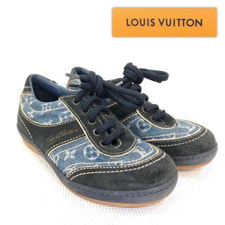 ルイヴィトン(LOUIS VUITTON)の【超美品】ルイヴィトン 子供用スニーカー モノグラムデニム×スエード 約17cm(スニーカー)