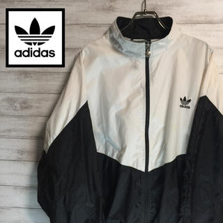 adidas - adidas/アディダス ナイロンジャケット 80年代タグ 刺繍ロゴ