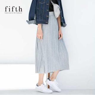 フィフス(fifth)の☆【fifth】即完売 シャーリングカット ロングスカート 美品(ロングスカート)
