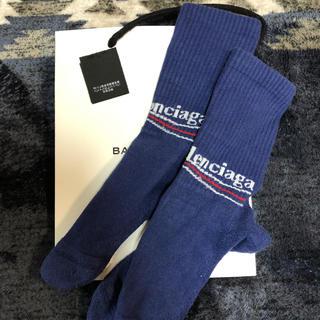Balenciaga - バレンシアガ 靴下 L 26〜28 ネイビー