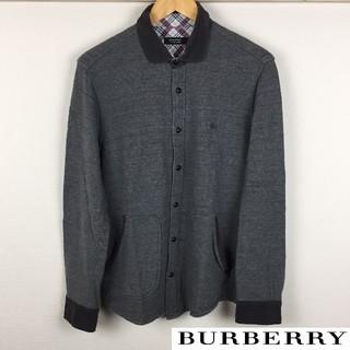 美品 BURBERRY BLACK LABEL 長袖スウェット グレー サイズ3