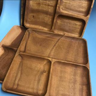 ムジルシリョウヒン(MUJI (無印良品))の無印良品 アカシアプレート 4枚セット(食器)