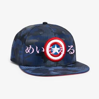 マーベル(MARVEL)の【新品】ネイビー 迷彩柄キャプテンアメリカキャップ(オールド)(帽子)