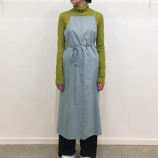 EDIT.FOR LULU - baserange YUMI APRON DRESS RAW SILK