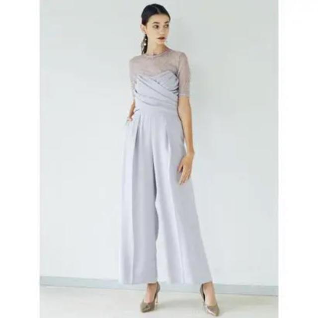 LagunaMoon(ラグナムーン)のLagunaMoon クロスベアパンツドレス!サイズM レディースのフォーマル/ドレス(ミディアムドレス)の商品写真
