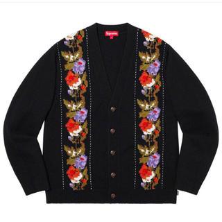 シュプリーム(Supreme)のSupreme Floral Stripe Cardigan Black S(カーディガン)