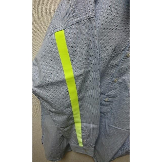 RAGEBLUE(レイジブルー)のレイジブルー/RAGE BLUE ビッグストライプシャツ(反射テープデザイン) メンズのトップス(シャツ)の商品写真