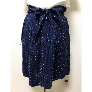 コントワーデコトニエ(Comptoir des cotonniers)のコントワーデコトニエ ネイビー&ホワイト水玉スカート サイズ36(ひざ丈スカート)