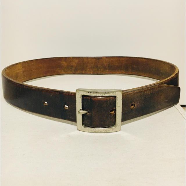 RRL(ダブルアールエル)の【レア】ENGLAND SADDLE LEATHER ギャリソンベルト メンズのファッション小物(ベルト)の商品写真