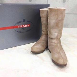 PRADA - PRADA プラダ ★ ムートン ブーツ