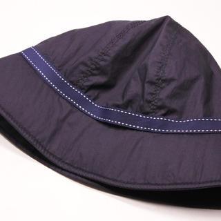 プラダ(PRADA)のPRADA プラダ バケットハット 帽子 CAP ネイビー ホワイト ナイロン (ハット)