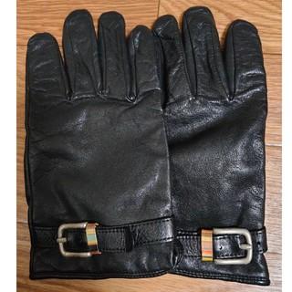 ポールスミス(Paul Smith)のPaul Smith 革手袋 レザーグローブ カシミヤ ポールスミス(手袋)