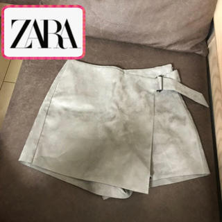 ZARA - 新品♡ZARA  スコート風 ショートパンツ グレージュ スウェード