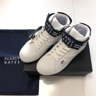 PEARLY GATES - 新品 ☆23.0cm パーリーゲイツ スパイク シューズ レディース ロゴベルト