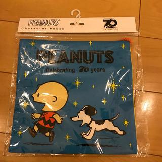 PEANUTS - スヌーピー70周年 ヴィンテージ巾着 かけっこ