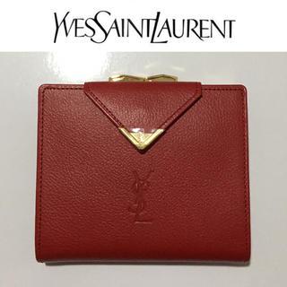 Saint Laurent - イヴサンローラン 財布 YSL オールド 新品 がま口 ヴィンテージ 貴重