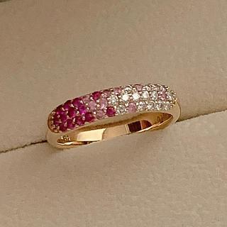 ポンテヴェキオ(PonteVecchio)のポンテヴェキオ ピンクサファイヤ/ダイヤモンドリング ピッコリーニ フラーゴラ (リング(指輪))