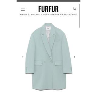 ファーファー(fur fur)のダブルロングテーラードジャケット(テーラードジャケット)