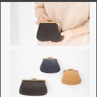 ミナペルホネン(mina perhonen)のmina perhonen cuddle purse レザー お財布 黒(財布)