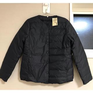 MUJI (無印良品) - 無印良品 新品 ノーカラーブルゾンダウンジャケット