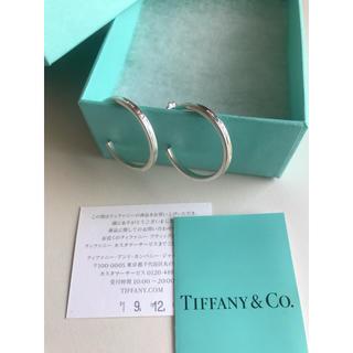 Tiffany & Co. - 昨年12月購入 Tiffany ティファニー フープピアス シルバー