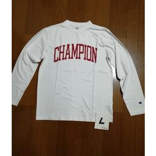 Champion - 人気の定番‼️Champion サイズL ロゴロンT 白L 未使用タグ付