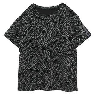 エイミーイストワール(eimy istoire)のeimy istoire♡EIMYpatternTシャツブラック(Tシャツ(半袖/袖なし))