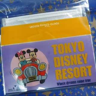 Disney - ディズニー★レトロ★マスクケース★マスク付き★ミッキー 車