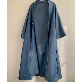 45rpm - 45rpm 45R インディゴ ワンピース カシュクール 羽織り 麻混 リネン